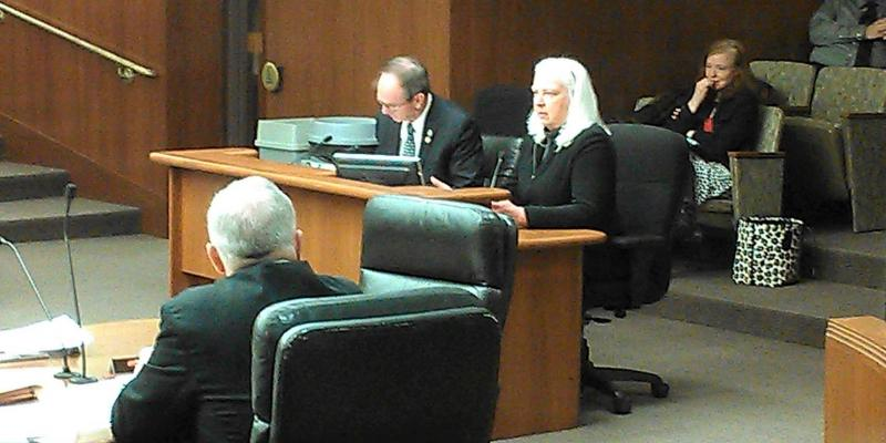 Gretchen Sabel testifying