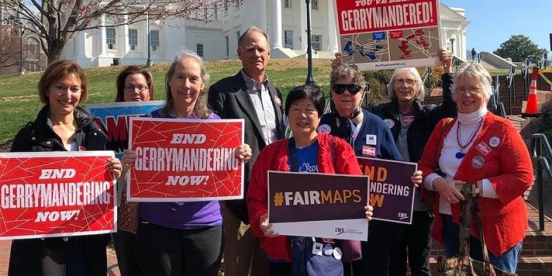 LWV Arlington members attend Rally to End Gerrymandering