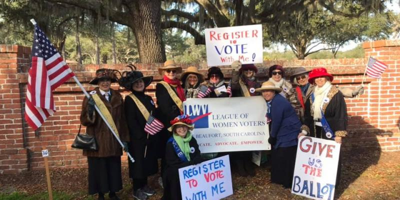 League of Women Voters Beaufort SC Area - MLK Parade 2020
