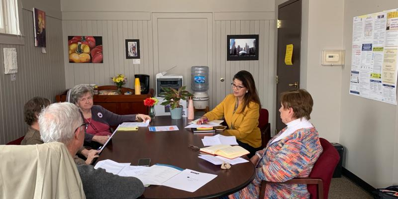 Rep Villa meeting with LWVCKC members