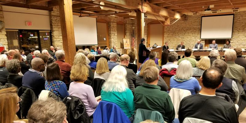 Candidate Forum: Standing room only