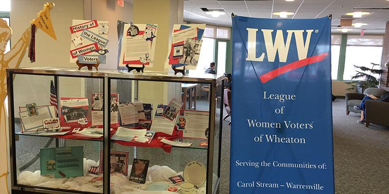 LWV Exhibit at the Wheaton Public Library