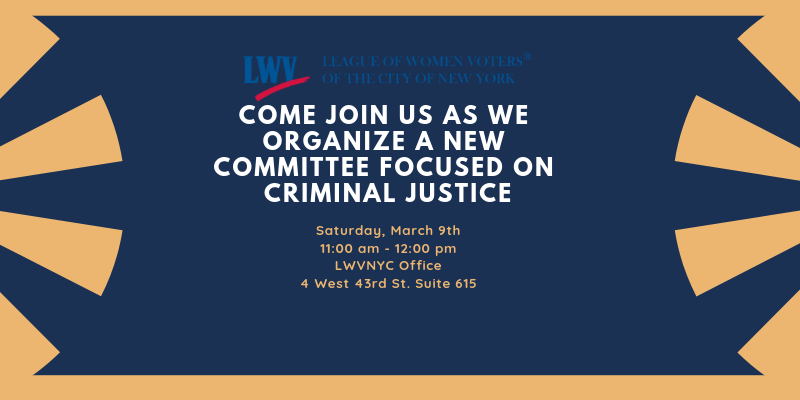 Criminal Justice Committee Kick Off Meeting