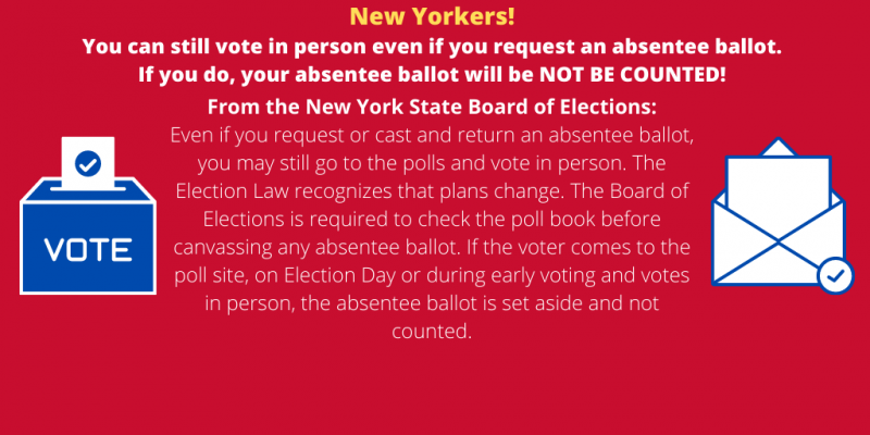 Vote in Person or Absentee