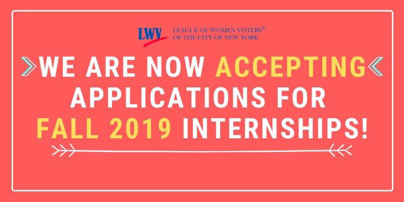 LWVNYC Fall 2019 Internships