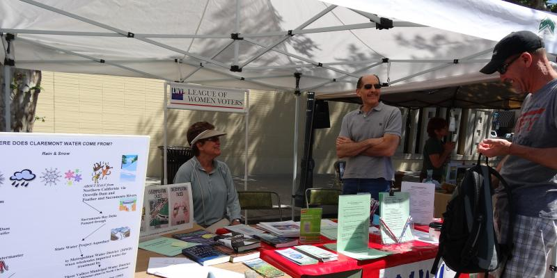 LWV information booth at Claremont's Earth Day Celebration