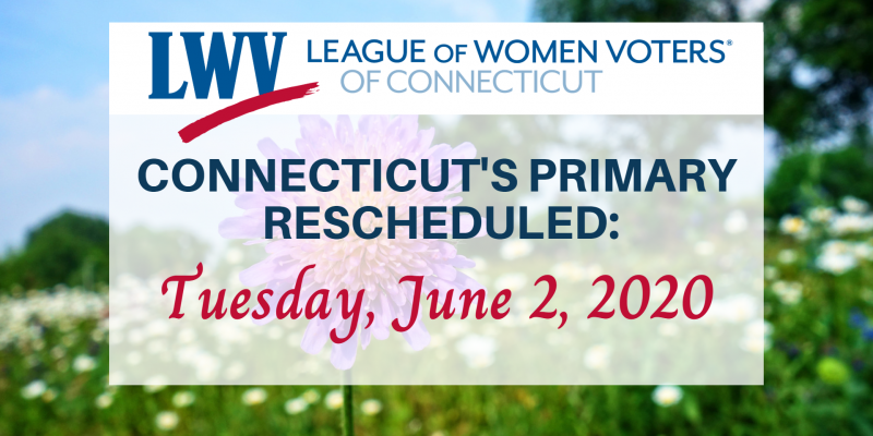 Image for Connecticut's Rescheduled Primary on Tuesday June 2, 2020