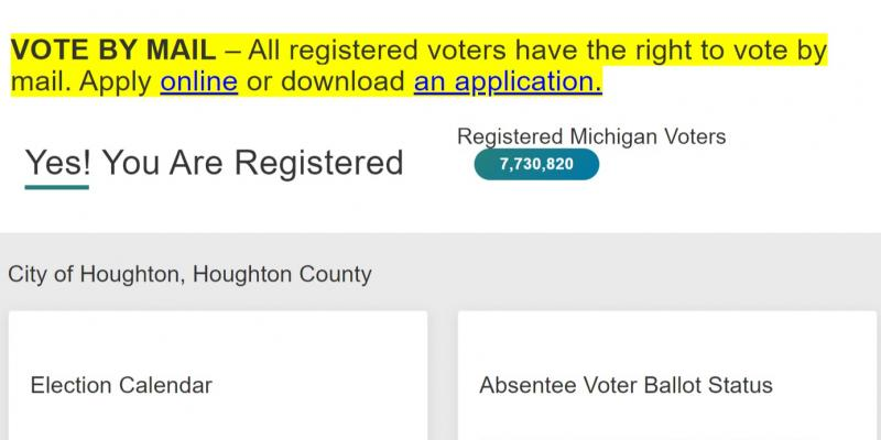 Checking registration, absentee ballot information