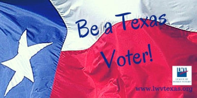 Be a Texas Voter! Texas flag