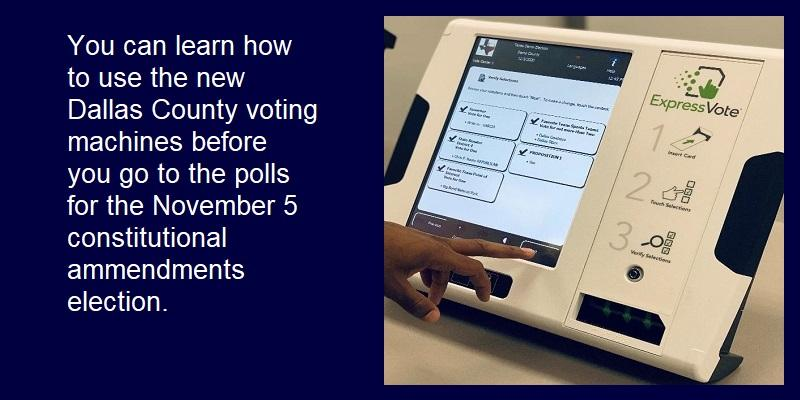 Learn how to use the new machines before the November 5 election