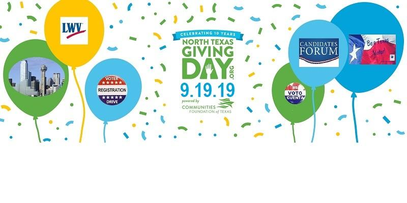 North Texas Giving Day is 9/19/2019