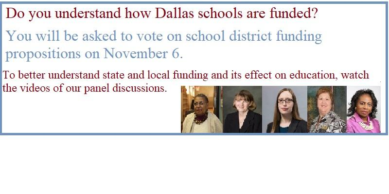 Do you understand how Dallas schools are funded?