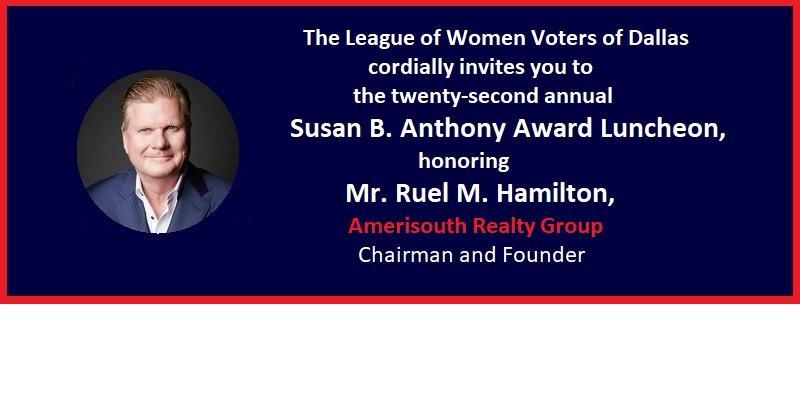 Invitation to the 22nd annual Susan B. Anthony Luncheon