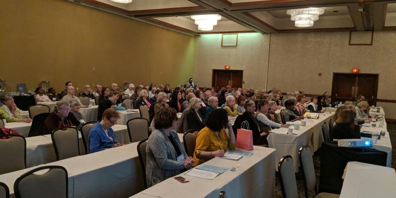 Filled conference room of attendees to Statehouse Day 2019