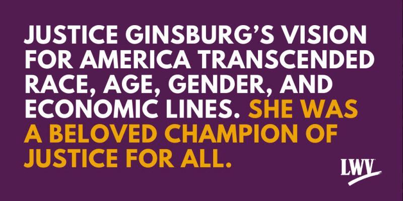 LWVTC Remembers Ruth Bader Ginsburg