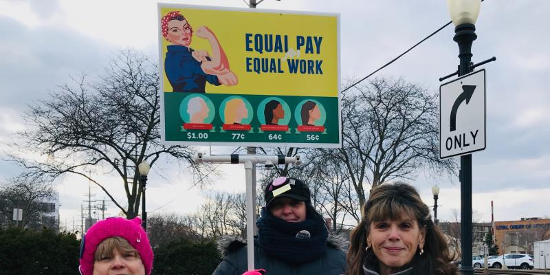 Equal Pay for Women Rally