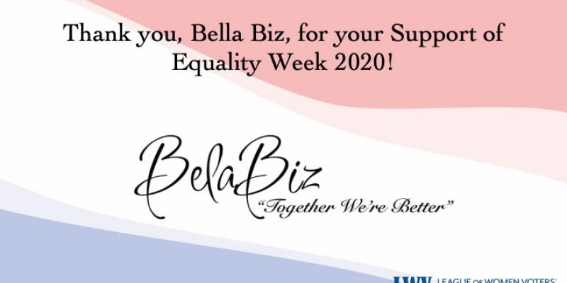Bella Biz, Equality Week 2020