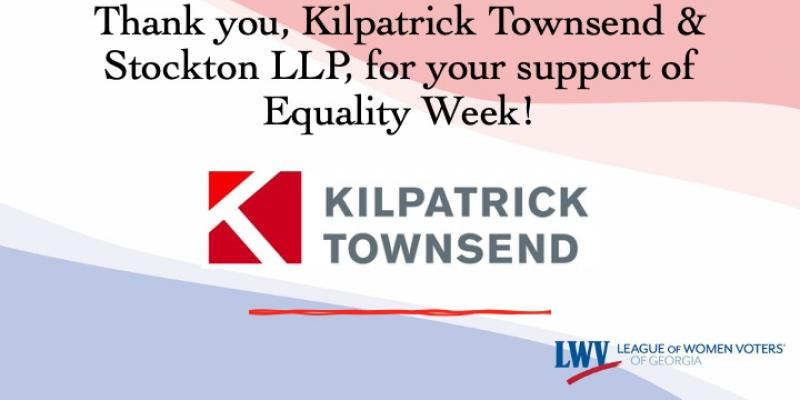 Kilpatrick Townsend & Stockton LLP, Equality Week