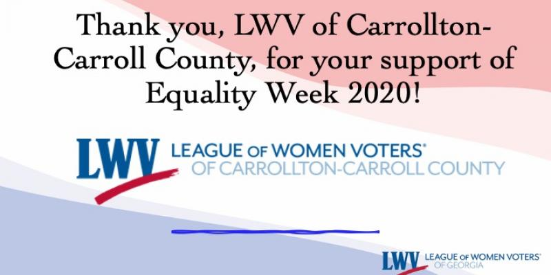 LWV Carrollton, Equality Week