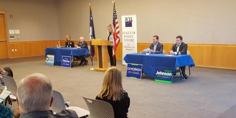 Photo of candidate forum