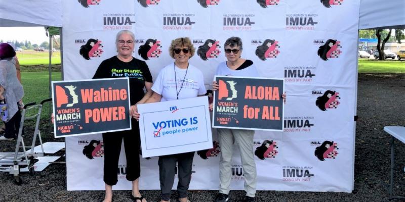 2020 Hilo Women's March Voter's Registration Drive