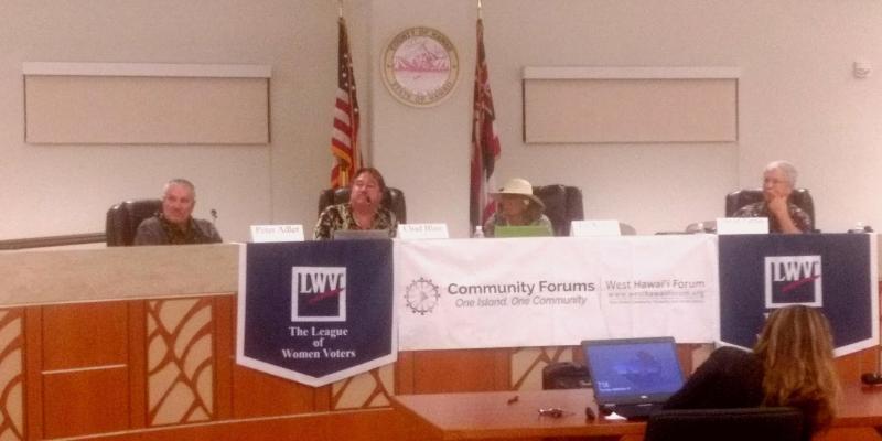 LWV Candidate Forum in West Hawaii