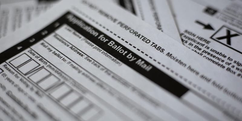 photo of mail-in-ballot application