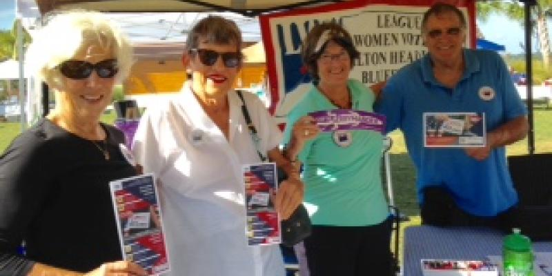 League members promote VOTE411 at community events