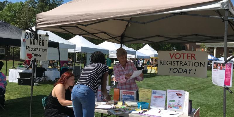 LWVHC at CCU Earth Day Fair, Apr 2019
