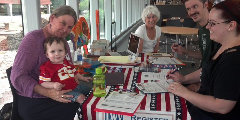 Voter Registration Drive at Public Library