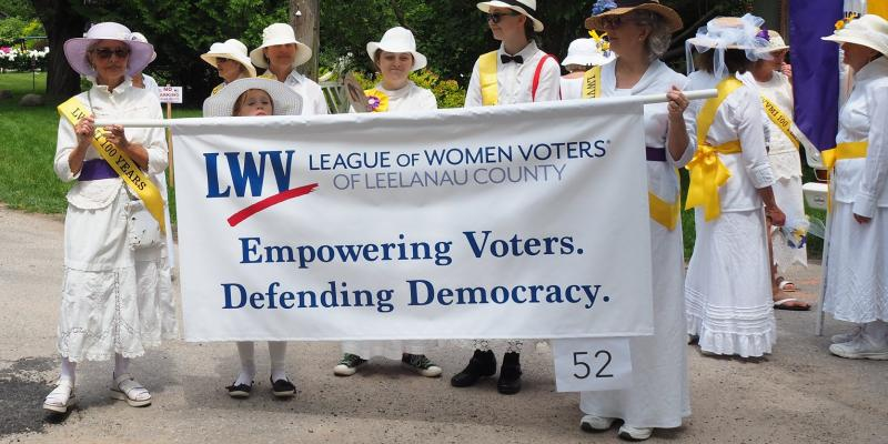 4th of July Parade 2019, members holding League sign