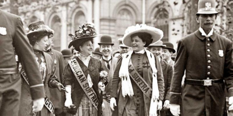 Suffragettes march for the vote