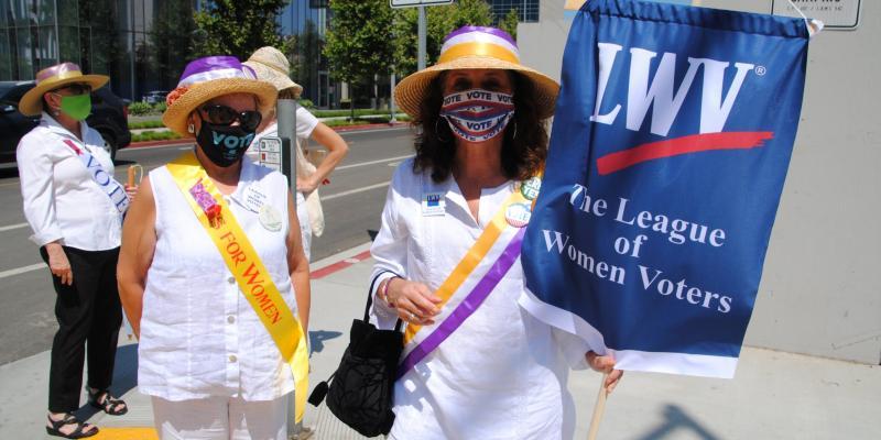 LWV Participates in Suffrage 100 Event 8-26-2020