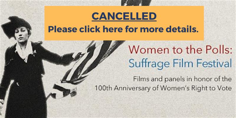 cancelled notice for suffrage film festival