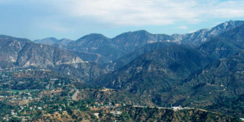 Mountains of Pasadena, California
