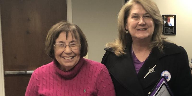 President and Publicity Newsletter at Cobb County Bd of Elections Certification Meeting