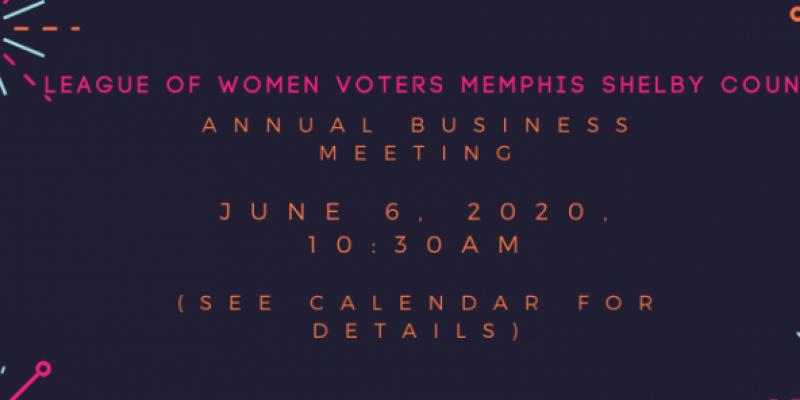 League of Women Voter Memphis Shelby County