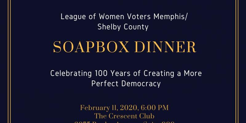 League of Women Voter Memphis Shelby County, Soapbox Dinner