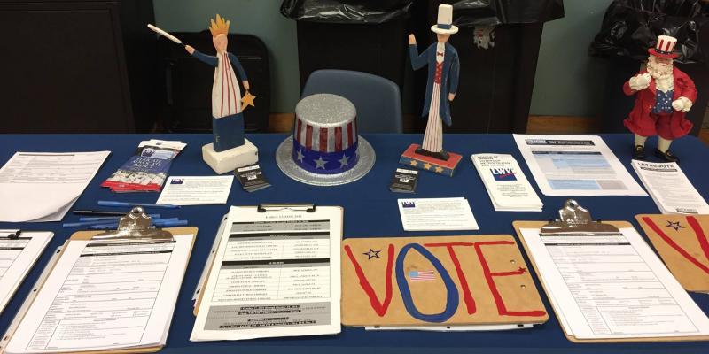 Voter Registration Booth