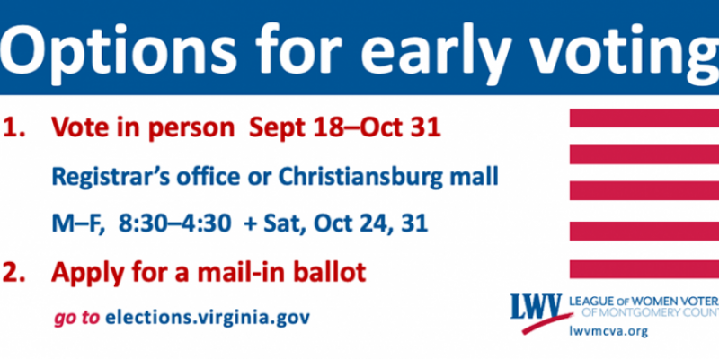 options for early voting in Montgomery County, VA