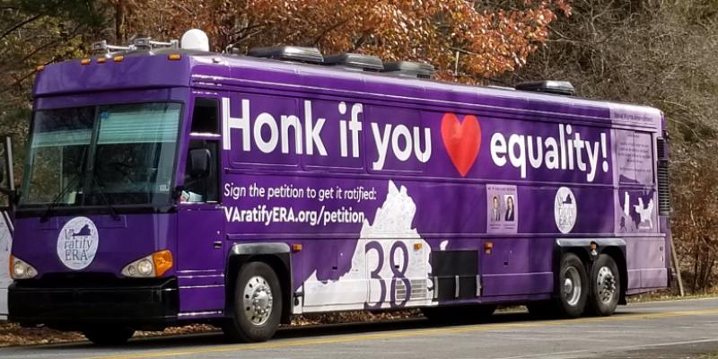 the VA Ratify ERA bus in Blacksburg