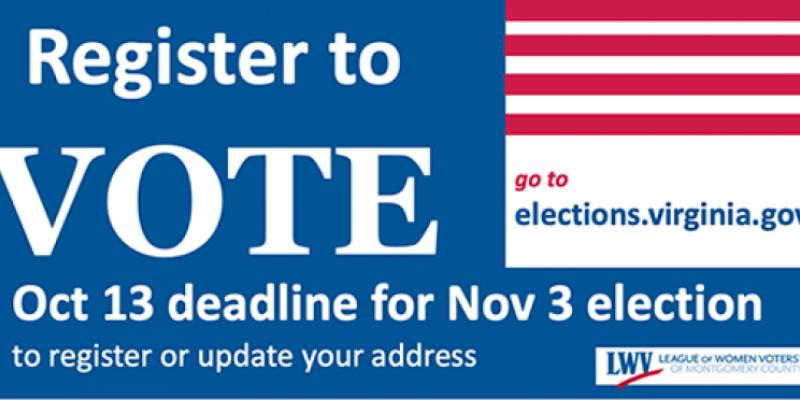 Register to vote reminder