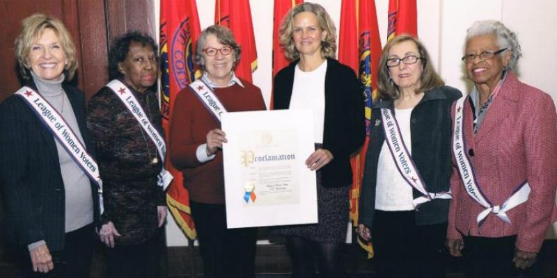 Presentation of Proclamation from Nassau County for 100th Anniversary of LWV
