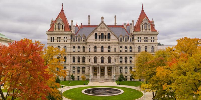 The fall season at New York State House Capitol in Albany