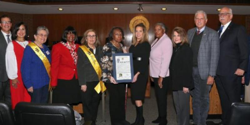 Presentation of Proclamation from Town of Hempstead for 100th Anniversary of LWV