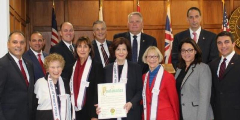 Presentation of Proclamation from Town of Oyster Bay for 100th Anniversary of LWV
