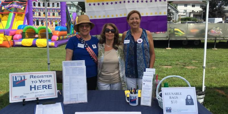 LWVNC (NY) members assist with voter registration at Pleasantville Music Festival