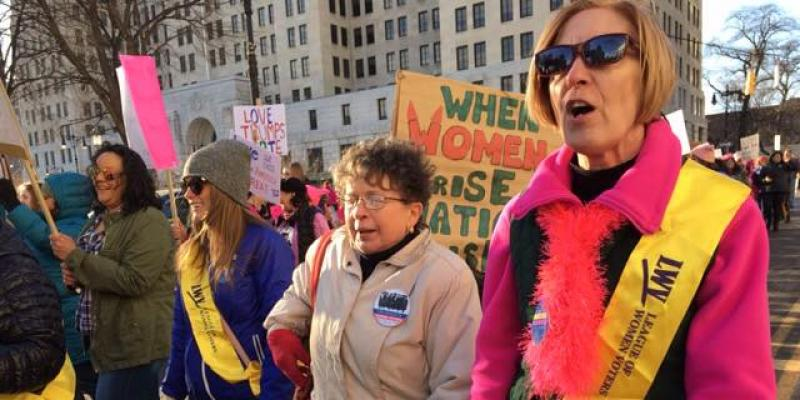 LWV Albany members march for Women 2018