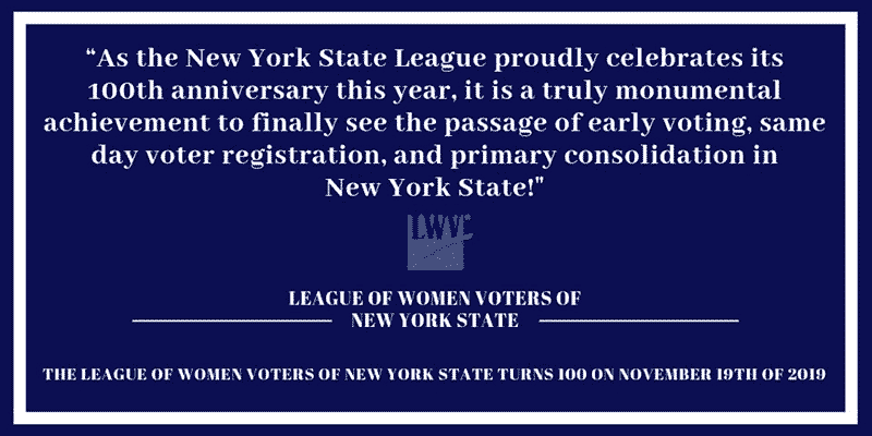 LWVNYS Statement on Voting Reform Package