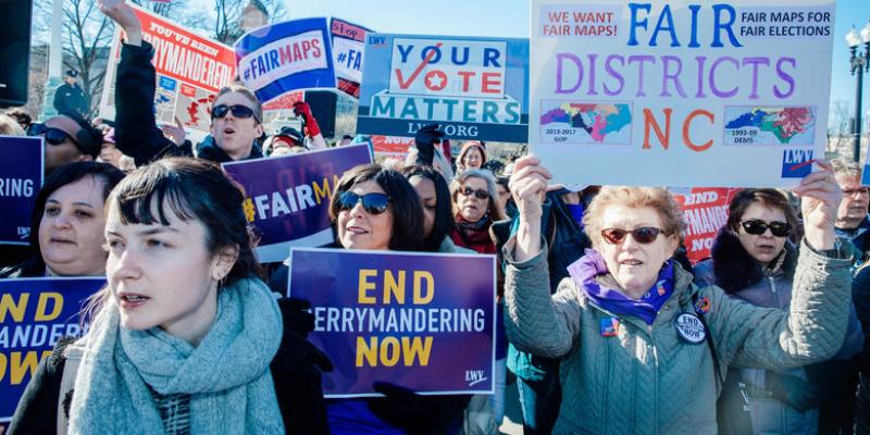 photo of North Carolina Fair Districts rally to end gerrymandering